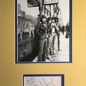 The Ramones were an American punk rock band that formed in the New York City neighborhood of Forest Hills, Queens in 1974. They are often cited as the first true punk rock group