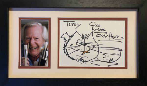 Tony Hart Autograph Display