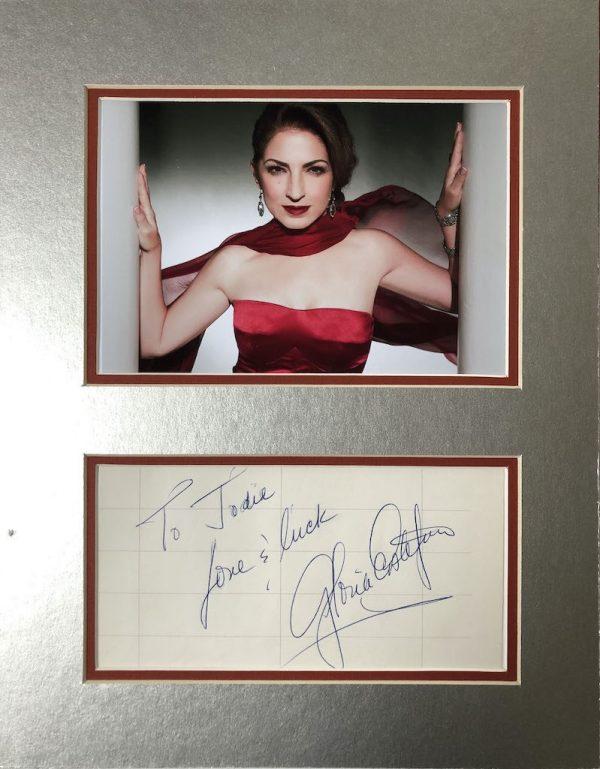 Gloria Estefan Autograph Mounted