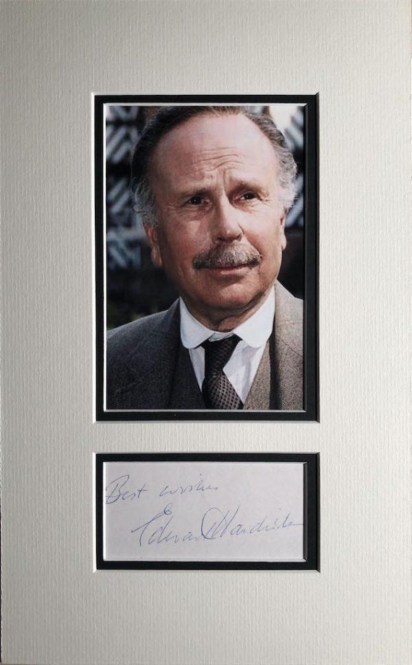 Edward Hardwicke Autograph Page