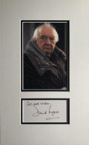 David Dyall Autograph Page