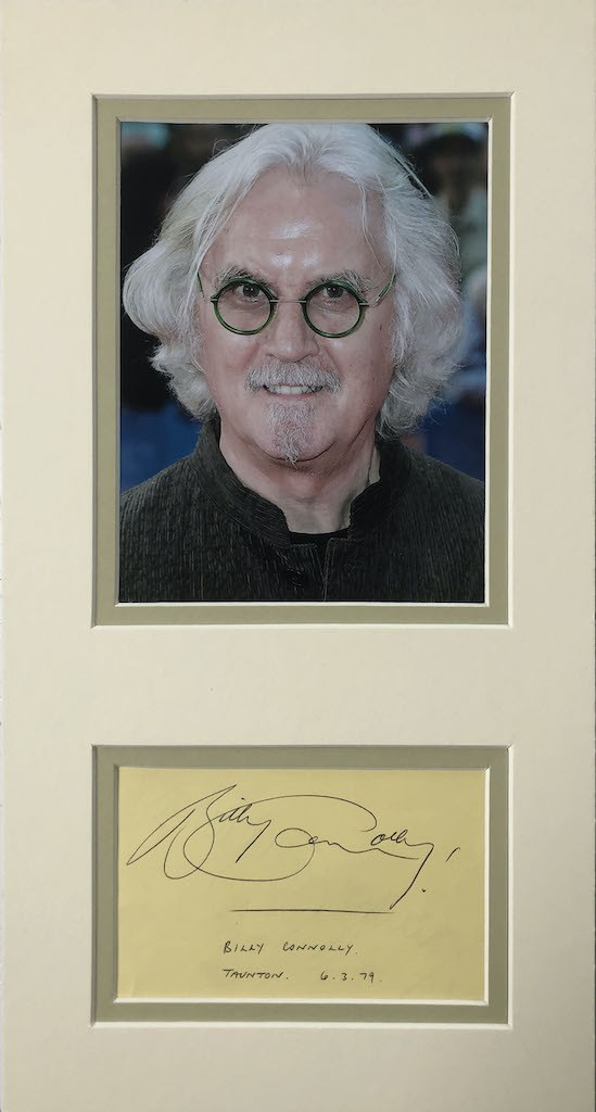 Billy Connolly Autograph Mounted