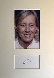 Martina Navratilova Autograph Page