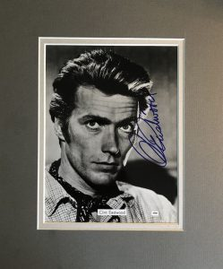 Clint Eastwood Autograph Mounted Photograph