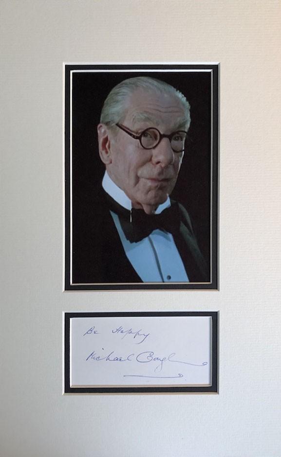 Michael Gough Autograph Page Mounted
