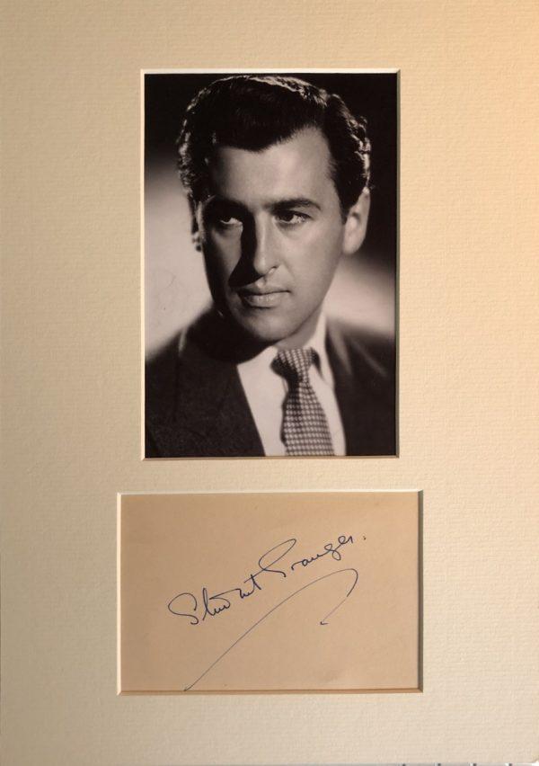 Stewart Granger Mounted Autograph