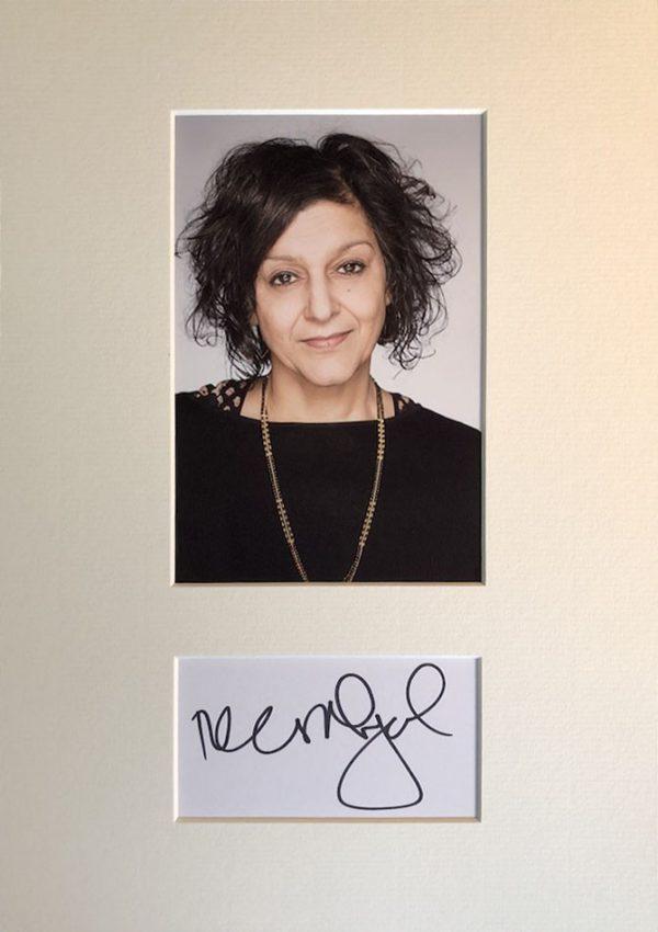 Meera Syal Autograph Mounted