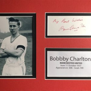 Sir Robert Charlton CBE (born 11 October 1937) is an English former footballer who played as a midfielder. He is regarded as one of the greatest players of all time.