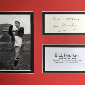 William Anthony Foulkes was an English footballer who played for Manchester United in the Busby Babes teams of the 1950s, and also in the 1960