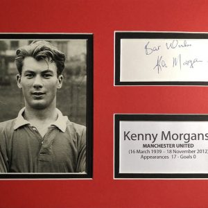 Kenneth Godfrey Morgans (16 March 1939 – 18 November 2012) was a Welsh footballer. Born in Swansea, he signed for Manchester United.