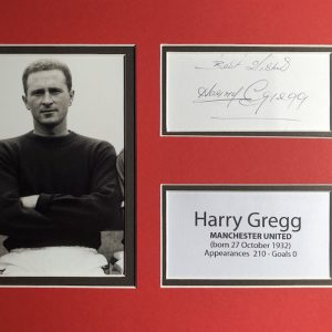 Henry Gregg played for Manchester United during the reign of Sir Matt Busby.