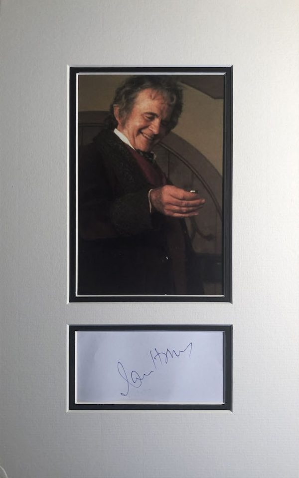 Ian Holm Autograph Page Mounted