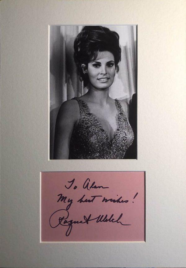 Raquel Welch Autograph Page