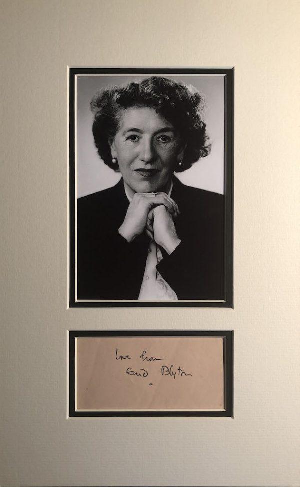 Enid Blyton Autograph Page