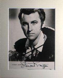 Stewart Granger Autograph Photograph