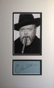 Orson Welles Hand Signed Autograph