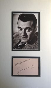 Jack Hawkins Autograph Page