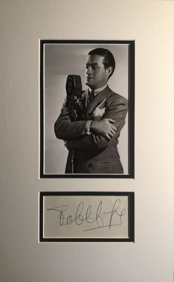 Bob Hope Autograph Page Mounted