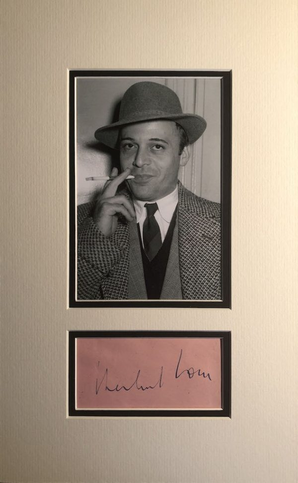 Herbert Lom Autograph Page
