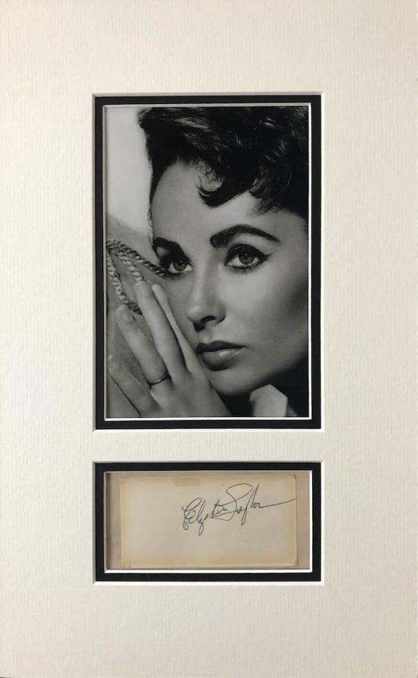 Elizabeth Taylor Autograph Page