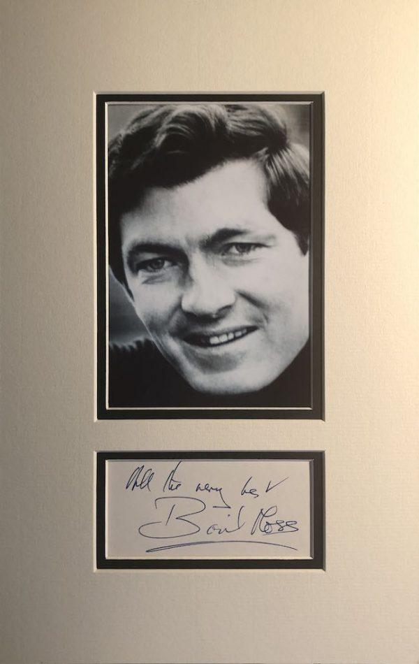 Basil Moss Autograph Page Mounted