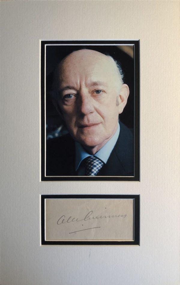 Alec Guinness Autograph Page