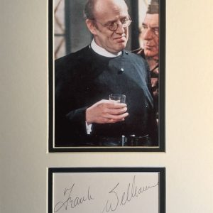 Frank J Williams (born 2 July 1931) is an English actor best known for playing Vicars and members of the Clergy, most notably Timothy Farthing, the vicar in the BBC comedy Dad's Army.