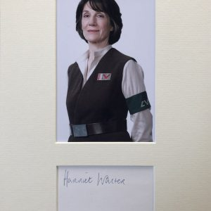 Dame Harriet Mary Walter, DBE (born September 24, 1950) is an English actress who portrayed Dr. Harter Kalonia in the film Star Wars: Episode VII The Force Awakens (2015).