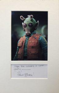 Paul Blake Autograph Page