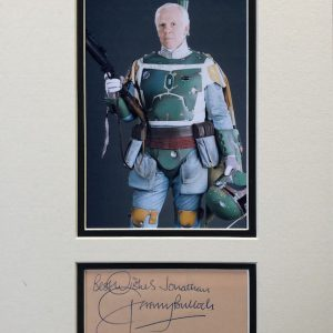 Jeremy Bulloch (born 16 February 1945) is a retired English actor best known for the role of the bounty hunter Boba Fett in the original Star Wars trilogy