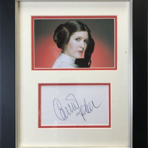 Carrie Frances Fisher (October 21, 1956 – December 27, 2016) was an American actress, writer, and comedian.[3] Fisher is known for playing Princess Leia in the Star Wars films, a role for which she was nominated for four Saturn Awards