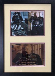 David Prowse Autograph Framed