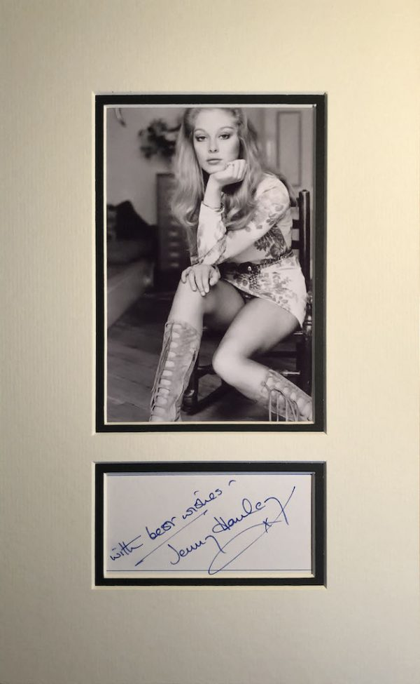 Jenny Hanley Autograph Mounted