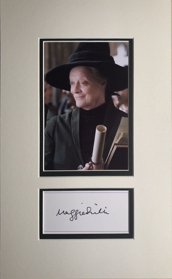 Maggie Smith Autograph Page