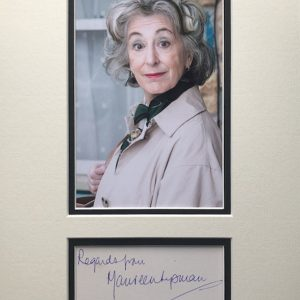 Maureen Diane Lipman, CBE (born 10 May 1946) is an English film, theatre, radio and television actress, columnist and comedian.  Lipman re-joined the cast of Coronation Street, this time playing Evelyn Plummer, the long-lost grandmother of Tyrone Dobbs (Alan Halsall).