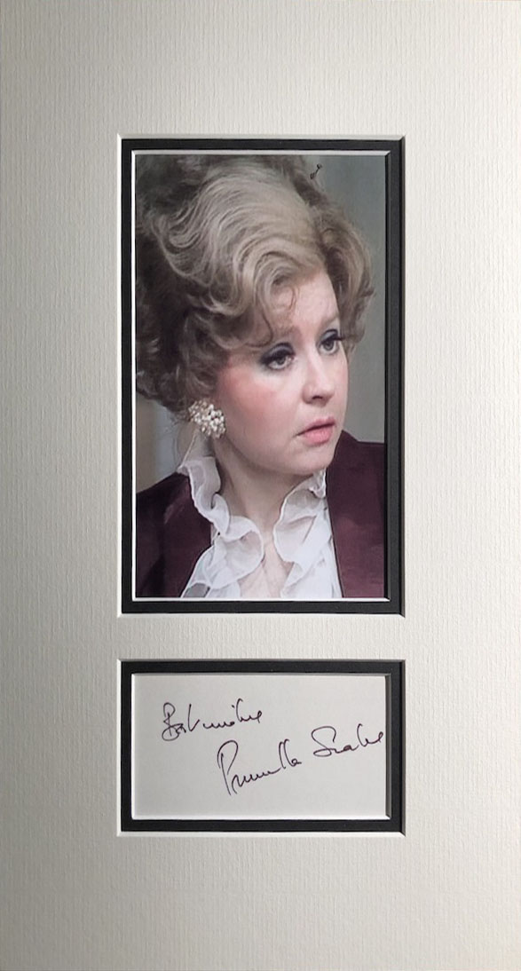 Prunella Scales Autograph Mounted