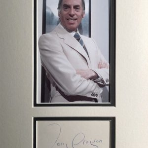 Larry Grayson (31 August 1923 – 7 January 1995), born William Sulley White, was an English comedian and television presenter who was best known in the 1970s and early '80s. He is best remembered for hosting the BBC's popular series The Generation Game