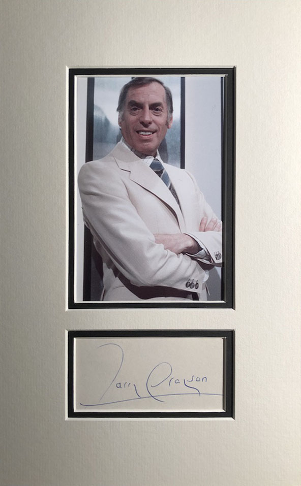 Larry Grayson Autograph Page Mounted