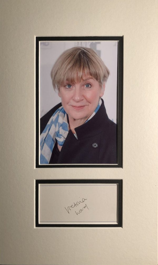 Victoria Wood Autograph Page Mounted