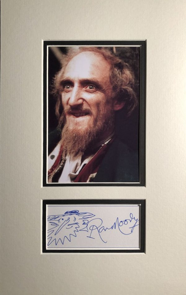 Ron Moody Autograph Page Mounted