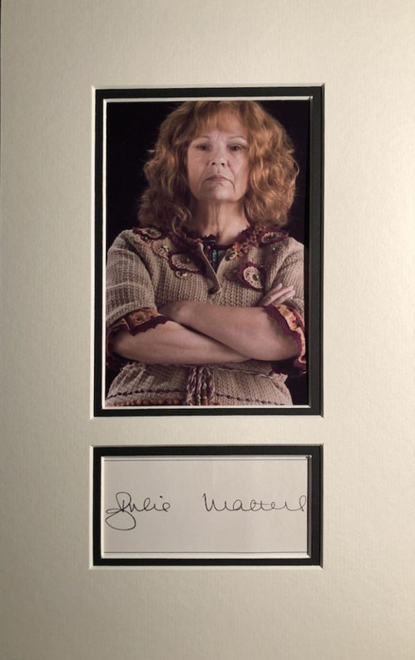 Julia Walters Autograph Page Mounted