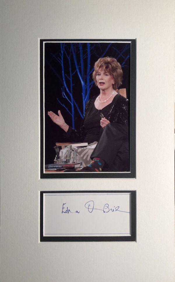 Edna O'Brien Autograph Page