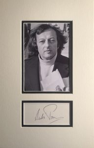 Andre Previn Autograph Page