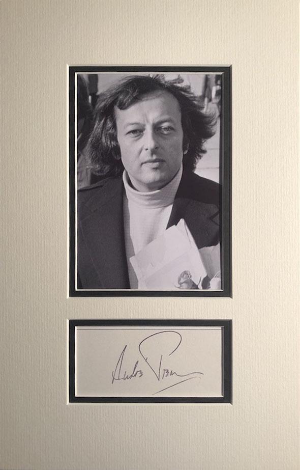 Andre Previn Autograph Page