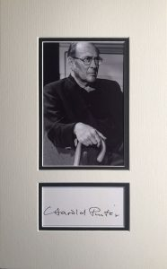 Harold Pinter Autograph Page