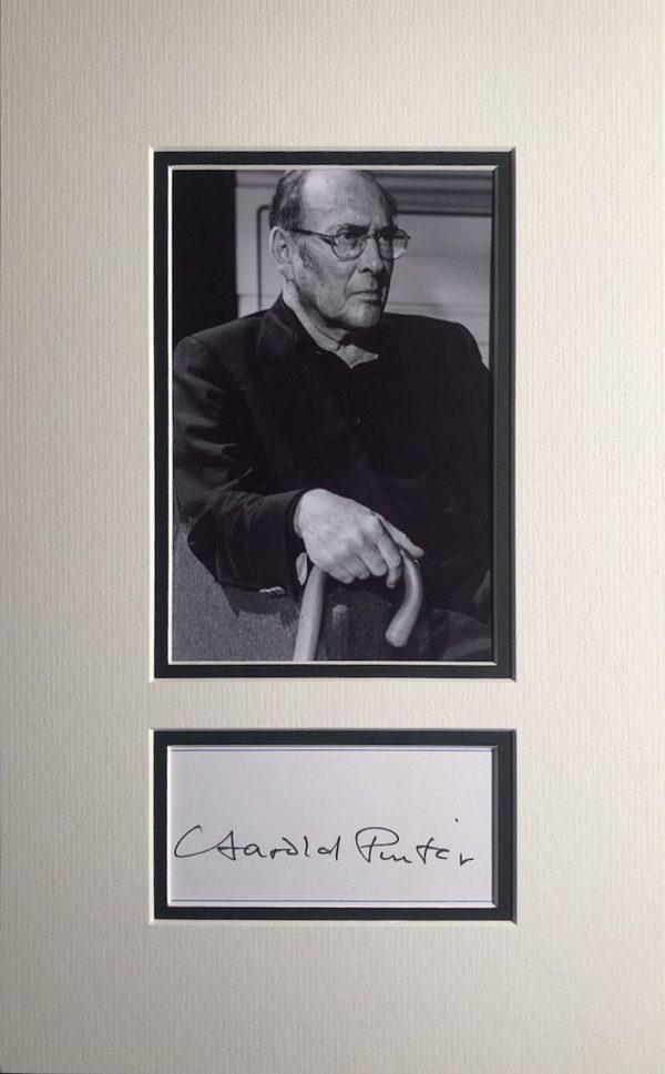 Harold Pinter Autograph Page