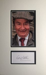 Peter Sallis Autograph Page Mounted
