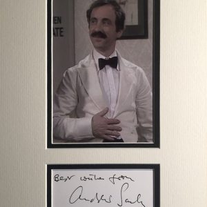 Andreas Siegfried Sachs (7 April 1930 – 23 November 2016), known professionally as Andrew Sachs, was a German-born British actor and writer. He made his name on British television and found his greatest fame in 1975 for his portrayal of the comical Spanish waiter Manuel in Fawlty Towers.