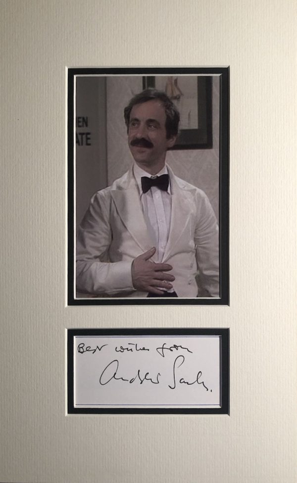 Andrew Sachs Autograph Page Mounted