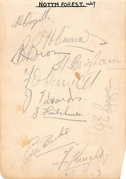 1946/47 Nottingham Forest Autographs